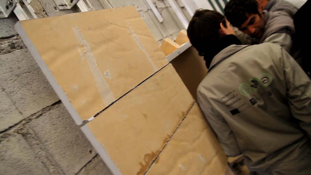 Curso de colocaci n de piedra natural en la escuela del for Piedra de silleria