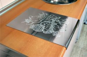 Protector de acero para encimeras for Accesorios decorativos para cocina