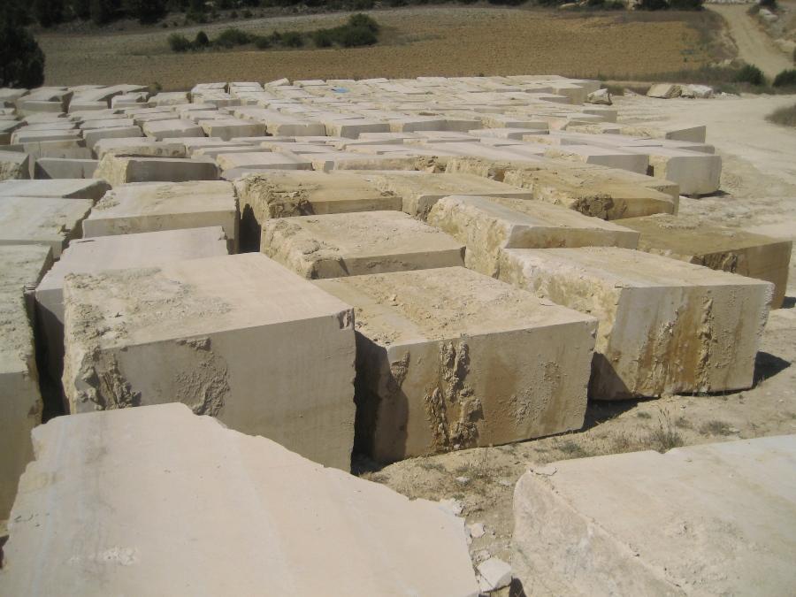 Bloques de Piedra de Silos en Cantera
