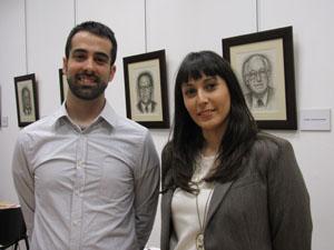 David Cazorla, responsable del departamento técnico de Anclajes Grapamar y Eva Portas, responsable de la consultoría técnica del Cluster del Granito.