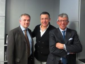 Carlo Zerlia, Fabio Bonardi  y Giambattista Pedrini  de Confindustria.