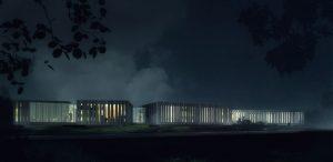 Infografia nocturna del exterior Pousada119331302777934694