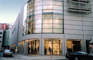 Edificio en granito Blanco Cristal en Dortmund.