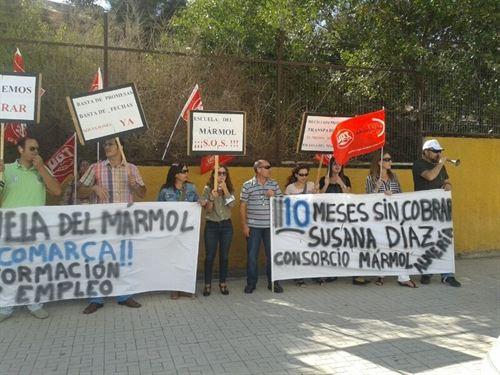 protestas escuela del marmol