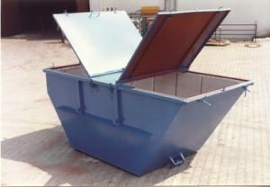 Contenedor de deshidratación estándar con tapas rígidas abatibles.