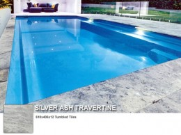 silver ash travertine