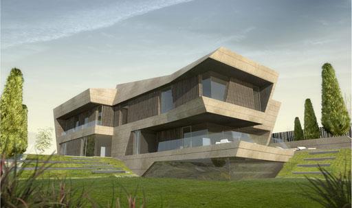 acero arquitectos proyecta una vivienda unifamiliar con fachada de travertino noce en oviedo