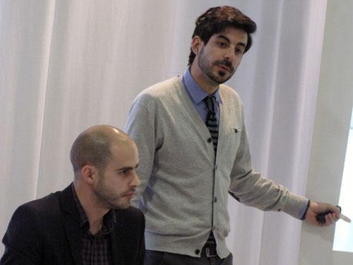 Joan Freixa y Álvaro Palencia durante la presentación de Neolith.
