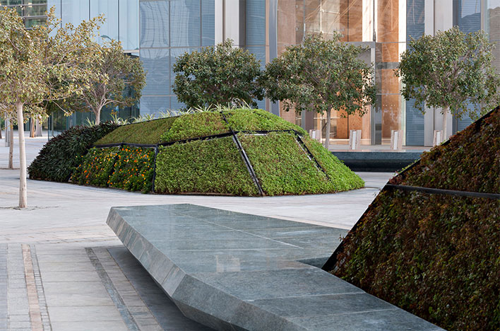 Martha schwartz partners elige granito para el proyecto for Plantaciones verticales