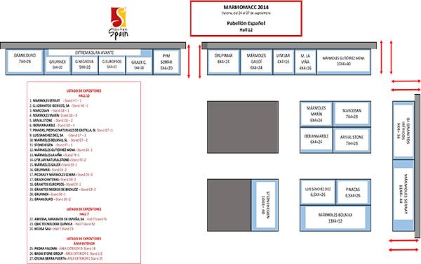 FINAL LAYOUT SPANISH PAVILION MARMOMACC 2014