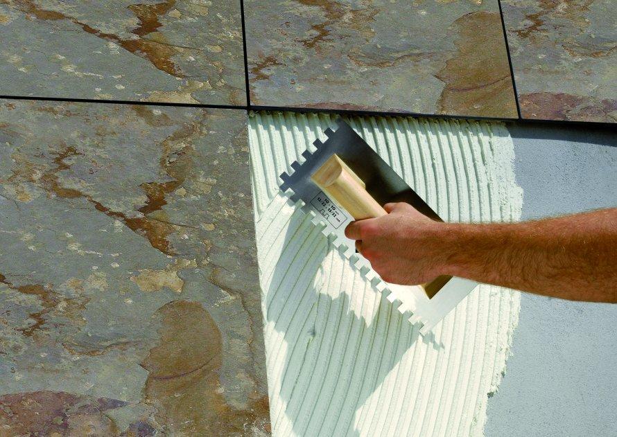 Adhesivo deformable para colocaci n de piedra natural pam flex de propamsa - Colocacion piedra natural ...