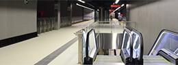 El nuevo metro de Málaga revestido con el porcelánico Techlam de Levantina