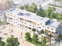 Málek Murad y María García, encargados del proyecto de un edificio en la Universidad de Bagdad
