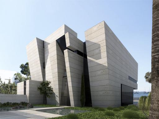 ... la fachada de una vivienda en la costa Mediterru00e1nea : DN CONSTRUCCION