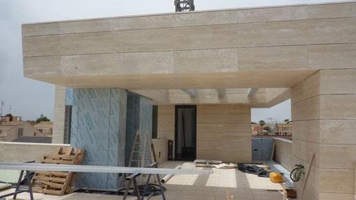 A cero elige una caliza clara para la fachada de una - Piedra caliza para fachadas ...