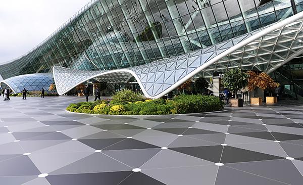 Baku Airport_Dekton_Sirius_Cosentino_Soleria Exterior