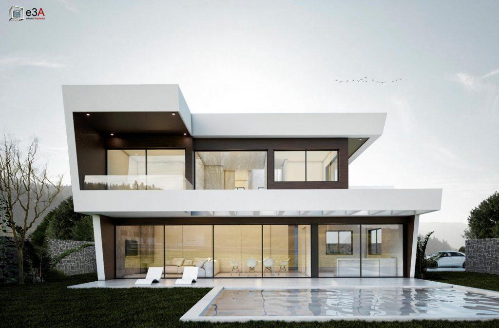Estudio 3 arquitectos proyecta una casa con caliza blanca - Estudio 3 arquitectos ...