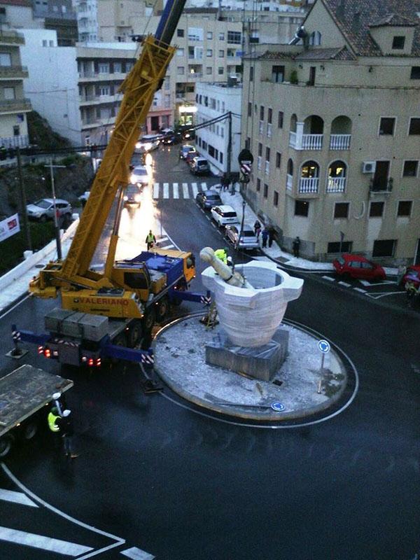 Macael inicia la instalaci n del mortero de m rmol blanco for Mortero de marmol