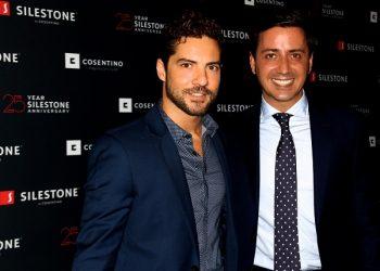 David Bisbal y Eduardo Cosentino en evento 25 aniversario Silestone 2