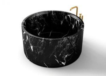 bañera negro markina