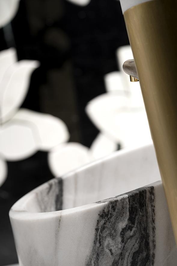 Lavabo en piedra natural de alessandro la spada en bianco for Marmol traslucido
