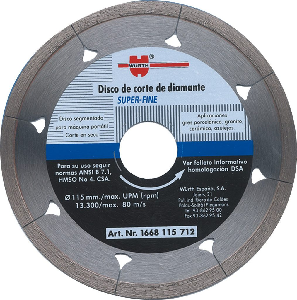 disco de corte 115 würth
