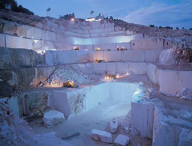 cantera de mármol en Bilecik, Turquía