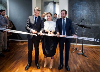 Showroom Laminam Milano - Opening - Taglio del Nastro