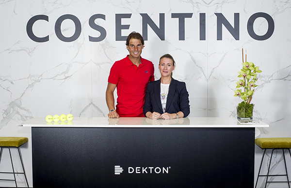 Foto Open 2016_Cosentino Rafal Nadal y Pilar Martinez Cosentino