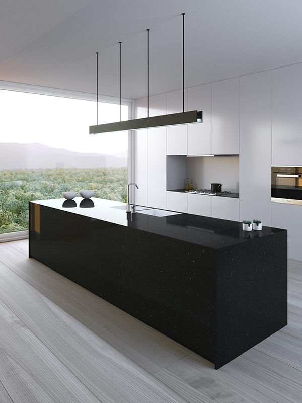 Silestone Kitchen - color Negro Stellar