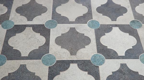 Closeup Finished Tile Design