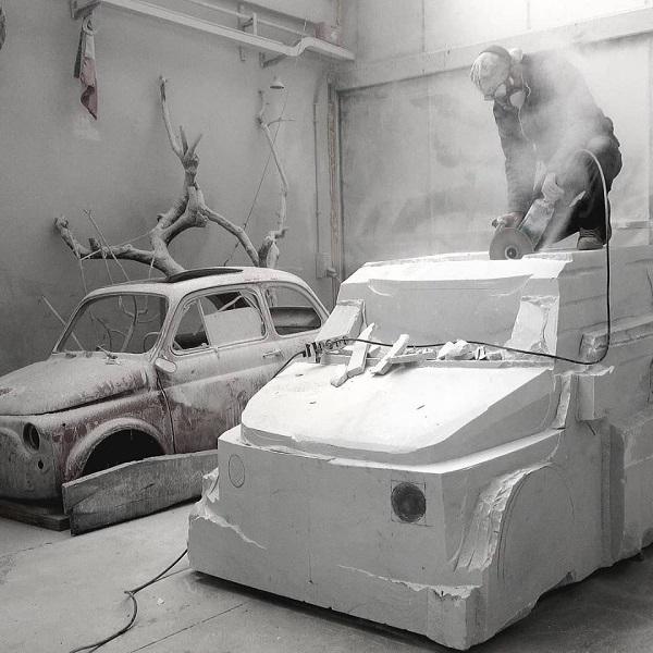 esculpir marmol carrara