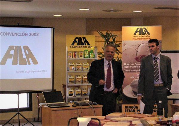 2003 meeting Spagna Sr. Pettenon (presidente Fila) e Paolo Gasparin